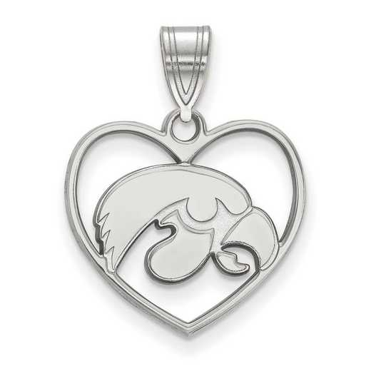 SS017UIA: SS LogoArt Univ of Iowa Pendant in Heart