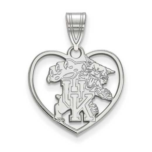 SS058UK: SS LogoArt Univ of Kentucky Pendant in Heart