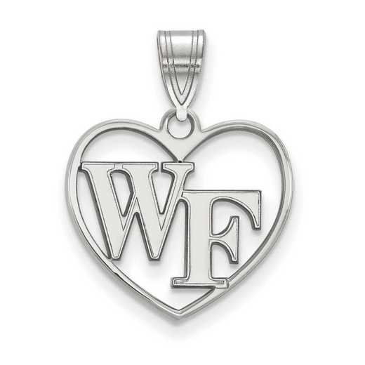 SS011WFU: SS LogoArt Wake Forest Univ Pendant in Heart