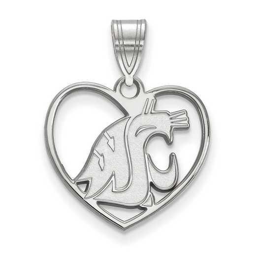 SS015WAS: SS LogoArt Washington State Pendant in Heart
