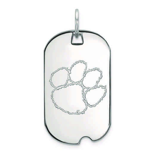 SS027CU: SS LogoArt Clemson University Small Dog Tag