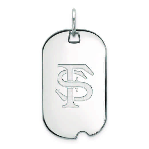 SS027FSU: SS LogoArt Florida State University Small Dog Tag