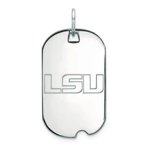 SS021LSU: SS LogoArt Louisiana State University Small Dog Tag
