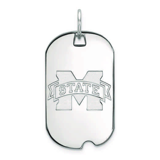 SS027MSS: SS LogoArt Mississippi State University Small Dog Tag