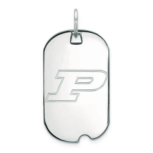SS022PU: SS LogoArt Purdue Small Dog Tag