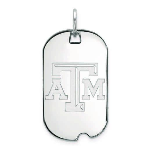 SS021TAM: SS LogoArt Texas A&M University Small Dog Tag