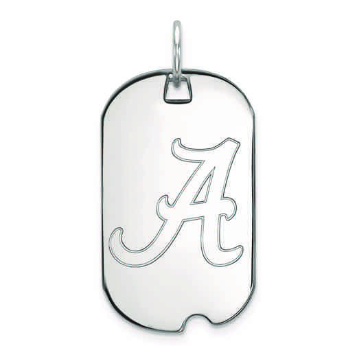 SS027UAL: SS LogoArt University of Alabama Small Dog Tag