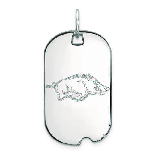 SS026UAR: SS LogoArt University of Arkansas Small Dog Tag