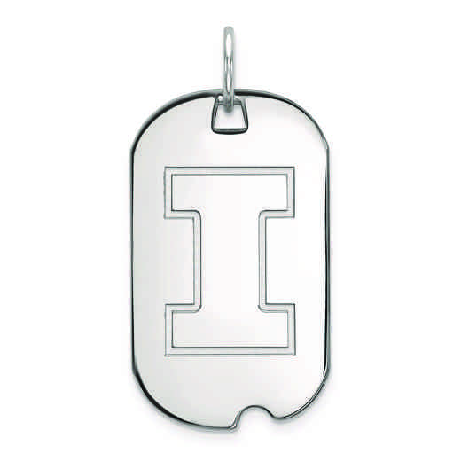 SS027UIL: SS LogoArt University of Illinois Small Dog Tag