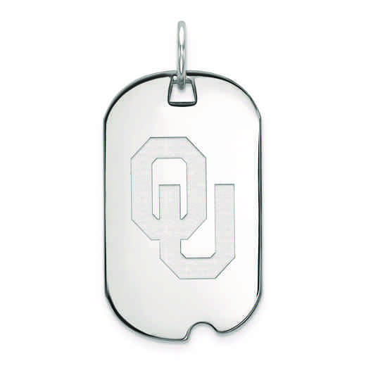 SS028UOK: SS LogoArt University of Oklahoma Small Dog Tag