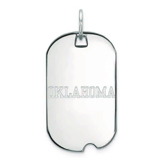 SS048UOK: SS LogoArt University of Oklahoma Small Dog Tag