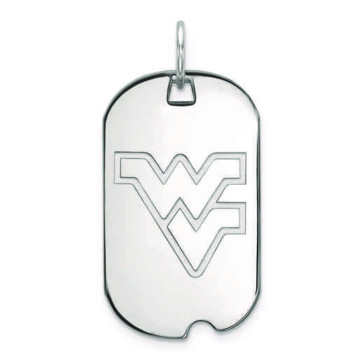 SS027WVU: SS LogoArt West Virginia University Small Dog Tag
