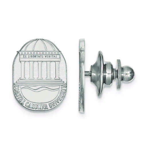 SS021CCU: SS LogoArt Coastal Carolina University Crest Lapel Pin
