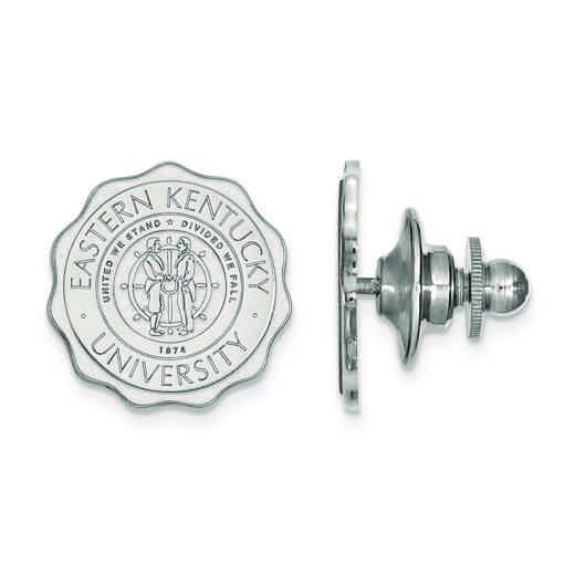 SS017EKU: SS LogoArt Eastern Kentucky University Crest Lapel Pin