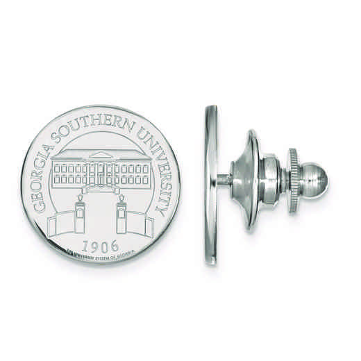 SS028GSU: SS LogoArt Georgia Southern University Crest Disc Lapel Pin