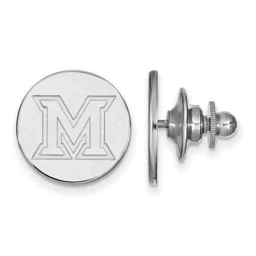 SS009MU: SS LogoArt Miami University Lapel Pin