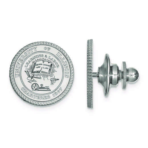 SS066UIL: SS LogoArt University of Illinois Crest Lapel Pin