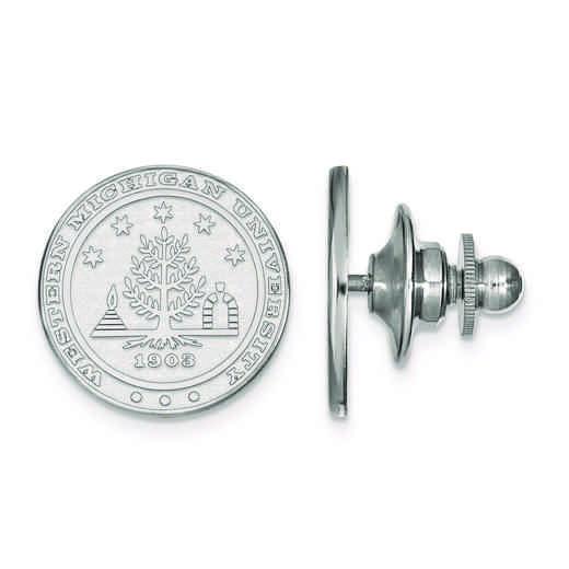SS021WMU: SS LogoArt Western Michigan University Crest Lapel Pin