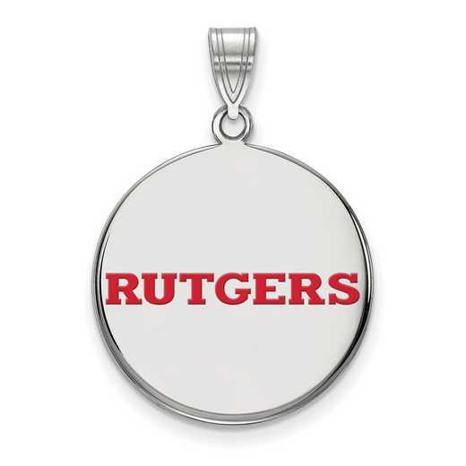 SS024RUT: SS LogoArt Rutgers LG Enamel Disc Pendant