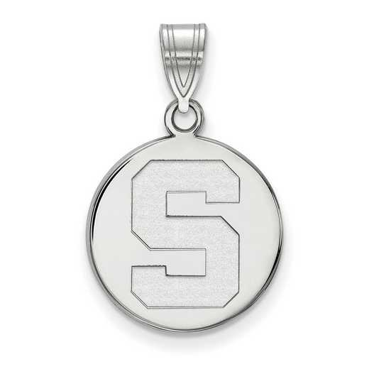 SS039MIS: SS LogoArt Michigan St Univ Medium Disc Pendant