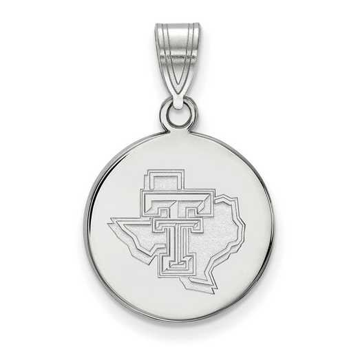 SS076TXT: SS LogoArt Texas Tech Univ Medium Pendant