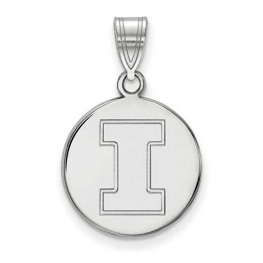 SS039UIL: SS LogoArt Univ of Illinois Medium Disc Pendant
