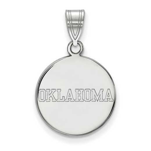 SS053UOK: SS LogoArt Univ of Oklahoma Medium Disc Pendant