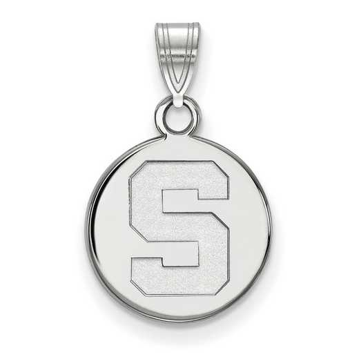 SS037MIS: SS LogoArt Michigan St Univ Small Disc Pendant