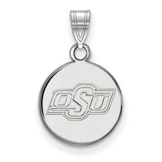 SS036OKS: SS LogoArt Oklahoma St Univ Small Disc Pendant