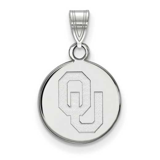 SS034UOK: SS LogoArt Univ of Oklahoma Small Disc Pendant