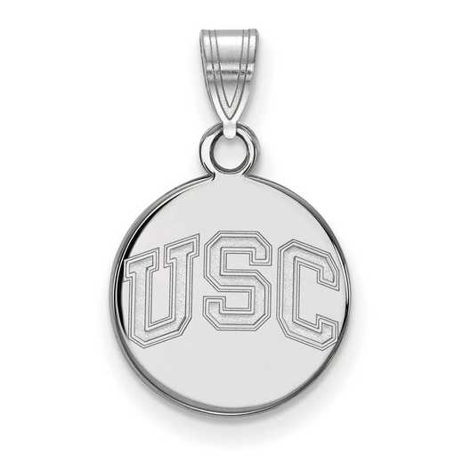 SS046USC: SS Univ of Southern California Small Disc Pendant