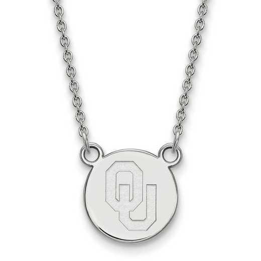 SS042UOK-18: SS LogoArt Oklahoma Small Disc w/Necklace