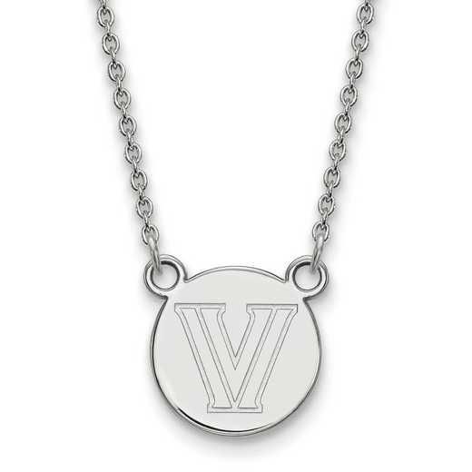 SS027VIL-18: SS LogoArt Villanova Univ Small Disc w/Necklace