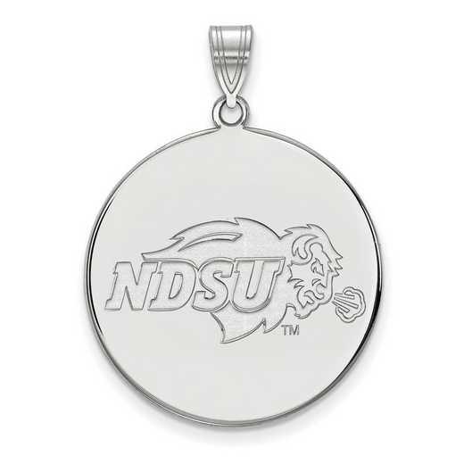 SS002NDS: SS LogoArt North Dakota St XL Disc Pendant