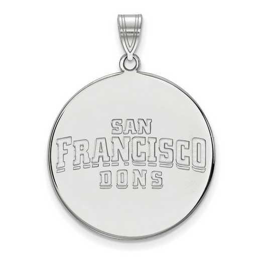 SS020USF: SS LogoArt Univ of San Francisco XL Disc Pendant