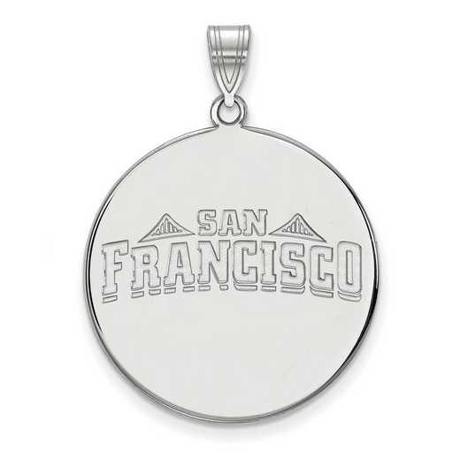 SS022USF: SS LogoArt Univ of San Francisco XL Disc Pendant