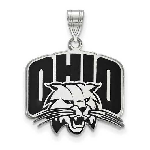 SS017OU: SS LogoArt Ohio Univ LG Enamel Pendant