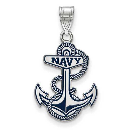 SS033USN: SS LogoArt Navy LG Enamel Pendant