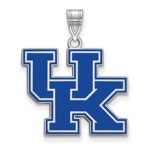SS032UK: SS LogoArt Univ of Kentucky LG Enamel Pendant