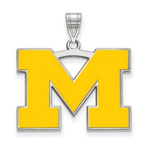 SS029UM: SS LogoArt Michigan (Univ Of) LG Enamel Pendant