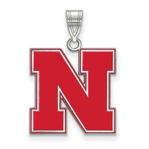 SS092UNE: SS LogoArt Univ of Nebraska LG Enamel Pendant