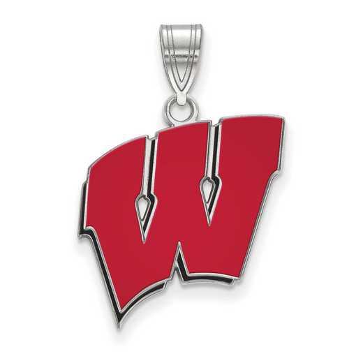 SS032UWI: SS LogoArt Univ of Wisconsin LG Enamel Pendant