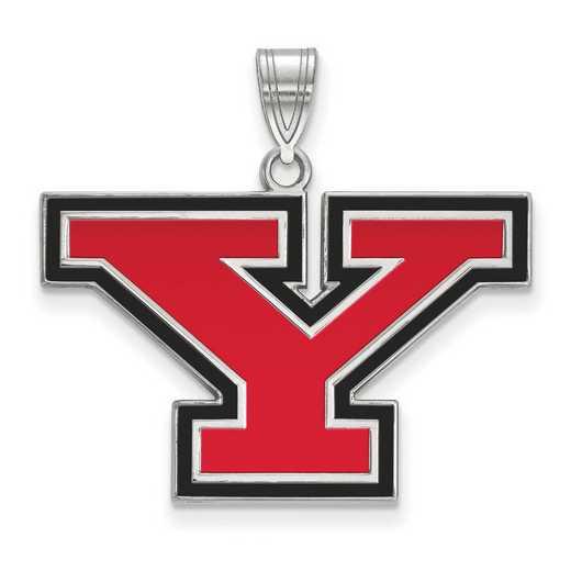 SS010YSU: SS LogoArt Youngstown St Univ LG Enamel Pendant