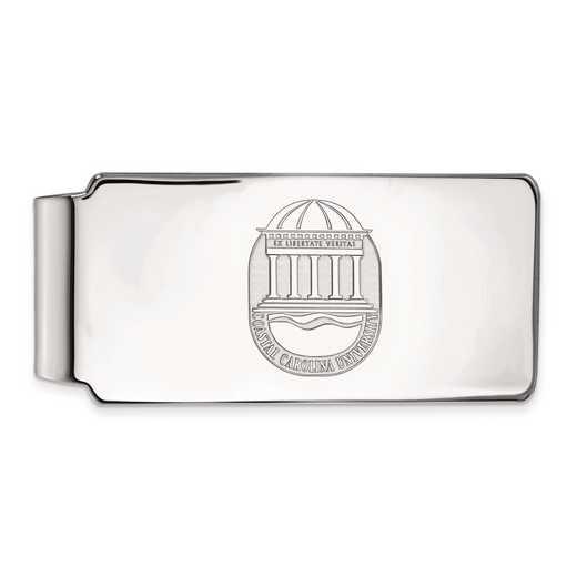 SS023CCU: SS LogoArt Coastal Carolina Univ Money Clip Crest
