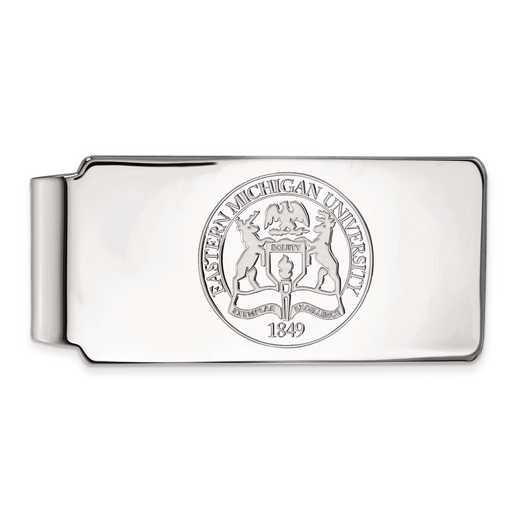 SS019EMU: SS LogoArt Eastern Michigan Univ Money Clip Crest