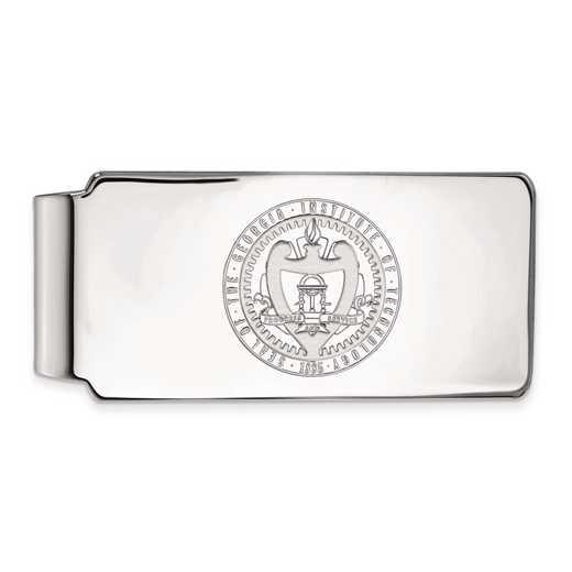 SS059GT: SS LogoArt Georgia Institute of Technology Money Clip Crest