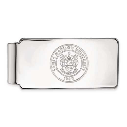 SS018JMU: SS LogoArt James Madison Univ Money Clip Crest