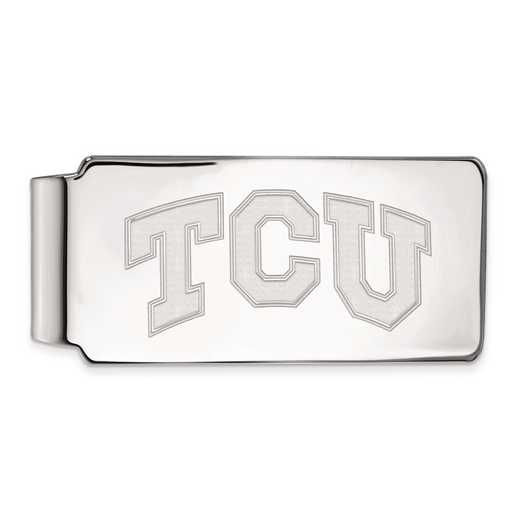 SS009TCU: SS LogoArt Texas Christian Univ Money Clip
