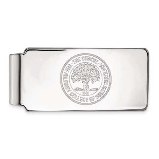 SS034TCI: SS LogoArt The Citadel Money Clip Crest