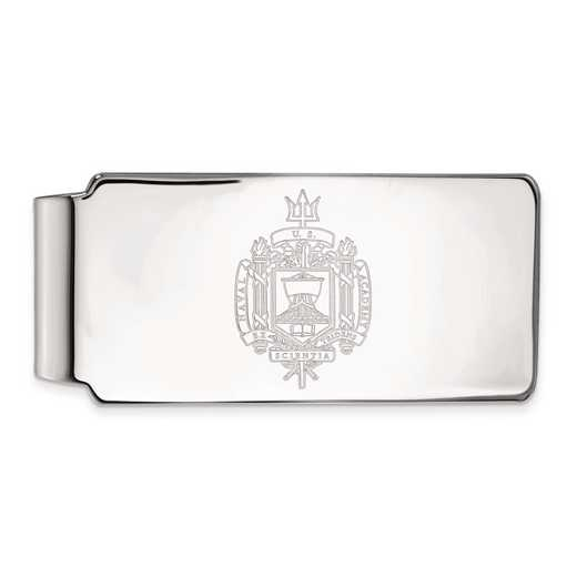 SS039USN: SS LogoArt Navy Money Clip Crest